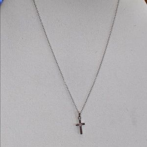 Sterling Forever Cross Necklace-NWOT